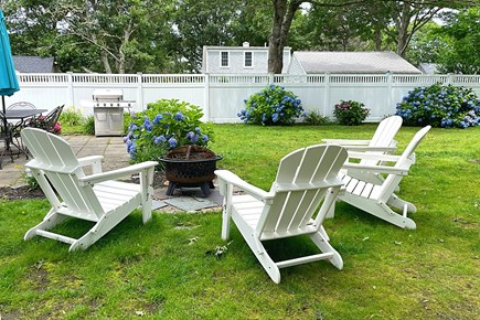 South Yarmouth Cape Cod vacation rental - Fire Pit with Adirondack Chairs