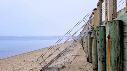 Truro Cape Cod vacation rental - Association stairs to beach at low tide
