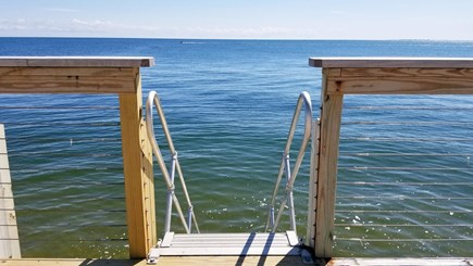 Truro Cape Cod vacation rental - Association stairs to beach at high tide