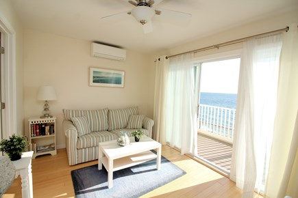Truro Cape Cod vacation rental - Living room has wonderful water views of Cape Cod Bay