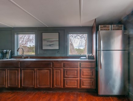 Wareham MA vacation rental - Bar and extra fridge in the Gathering Room.