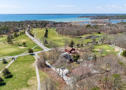 Wareham MA vacation rental - Aerial of property looking southwest towards Little Harbor beach.