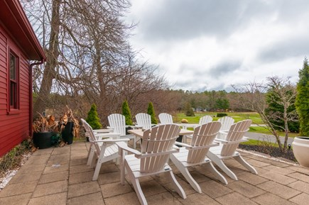 Wareham MA vacation rental - Gas firepit on outdoor patio.