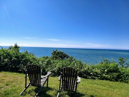 Brewster Cape Cod vacation rental - View out the of the bedroom. Listen to the waves.