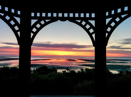 Brewster Cape Cod vacation rental - Sunset view over cape cod bay the Gazebo
