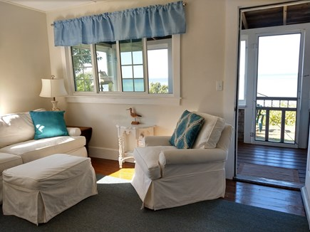 Brewster Cape Cod vacation rental - Living room with views of the  beach, bay and  the gazebo