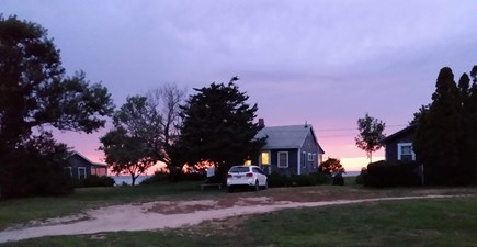 Brewster Cape Cod vacation rental - 3 nestled at the end of a dirt rd on a bluff overlooking the bay