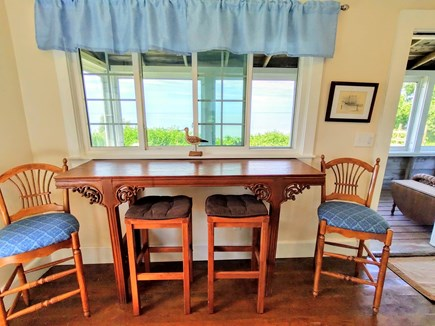 Brewster Cape Cod vacation rental - Breakfast bar and great place for working overlooking beach
