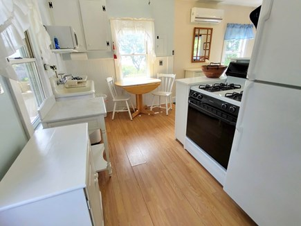 Brewster Cape Cod vacation rental - Kitchen with full size fridge, stove, microwave, &fabulous views