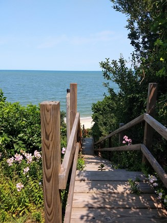 Brewster Cape Cod vacation rental - Beach stairs outside your door to a gorgeous beach