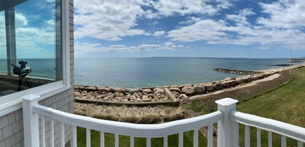 Falmouth Cape Cod vacation rental - Master balcony with 2 loungers and table