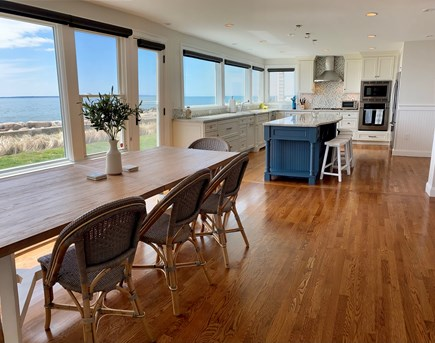 Falmouth Cape Cod vacation rental - Dining room and kitchen on the ocean