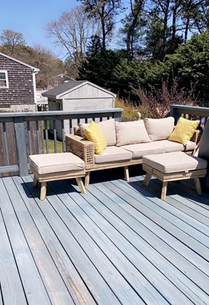 Dennis, Swan River Cape Cod vacation rental - Outdoor furniture with gas fire pit and grill