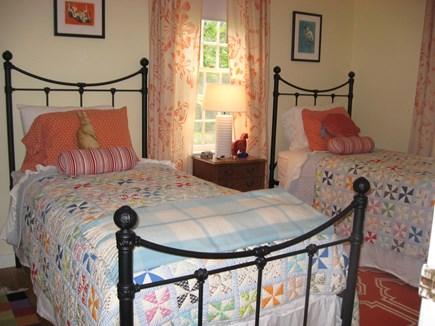 Wellfleet Cape Cod vacation rental - Twin iron beds in bedroom #2.