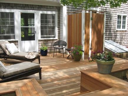 Wellfleet Cape Cod vacation rental - Back deck with outdoor shower