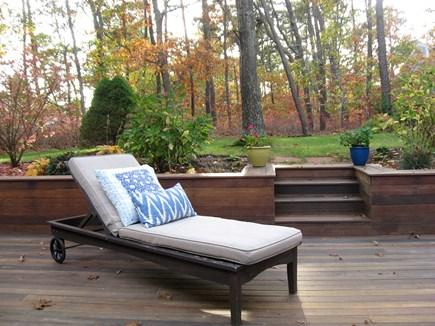 Wellfleet Cape Cod vacation rental - Back yard lounging