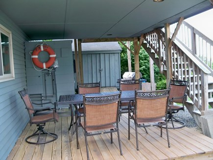 Plymouth MA vacation rental - Covered outdoor dining area