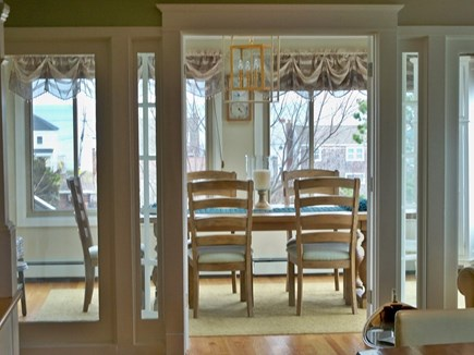 Plymouth MA vacation rental - Spacious dining room with skylights and ocean view