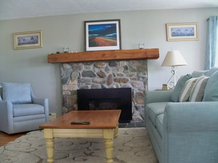 Plymouth MA vacation rental - Living room with access to large deck with ocean views