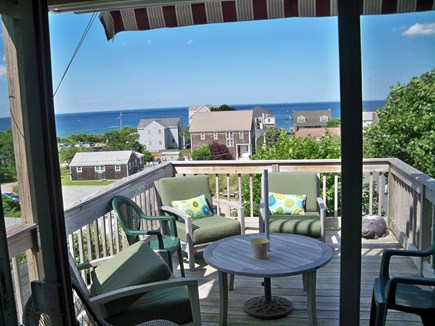 Plymouth MA vacation rental - Deck off of living room with ocean views