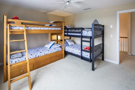 Orleans Cape Cod vacation rental - Upper Level Bedroom with Water Views and two twin bunks