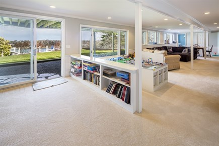 Orleans Cape Cod vacation rental - Lower Level Entertainment Area with TV and Game Room