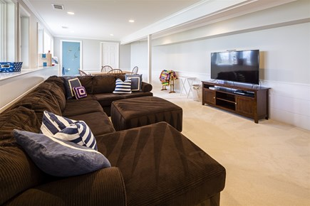 Orleans Cape Cod vacation rental - Lower Level Entertainment Area
