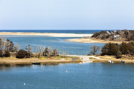 Orleans Cape Cod vacation rental - Water View from Deck & Lower Patio, Mill Pond