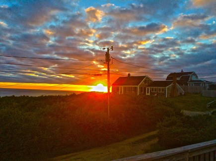 North Truro Cape Cod vacation rental - Sunset view from deck