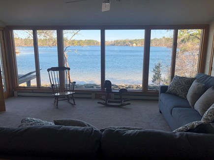 West Dennis Cape Cod vacation rental - Den with view of Kelley's Pond
