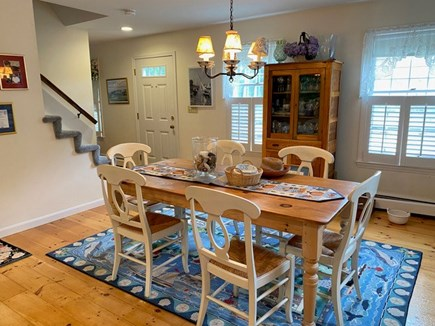 Chatham Cape Cod vacation rental - Family dining room complete with beautiful dishes and serverware