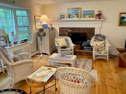 Chatham Cape Cod vacation rental - Great area to chill with a fireplace and beautiful, big window