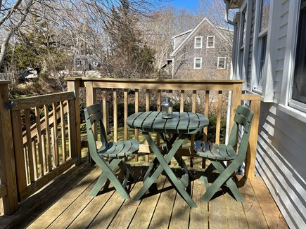 Wellfleet, The Bradford Cape Cod vacation rental - Back deck