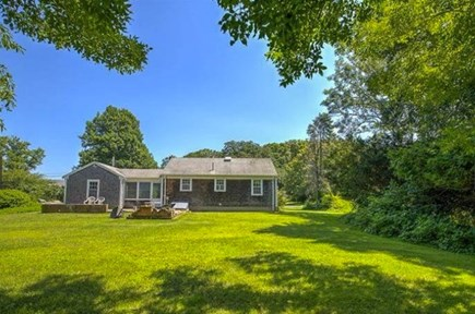 Yarmouth Port Cape Cod vacation rental - Plenty of room in the fenced in backyard