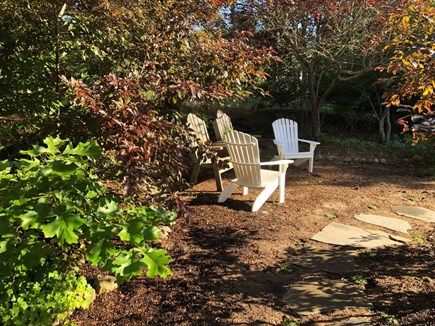 Eastham Cape Cod vacation rental - Resting area in the gardens