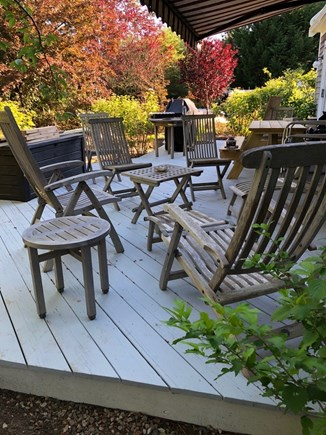 Eastham Cape Cod vacation rental - Side deck seating off living room