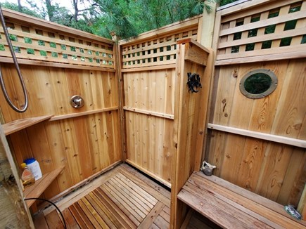 Eastham Cape Cod vacation rental - Custom outdoor shower with portholes