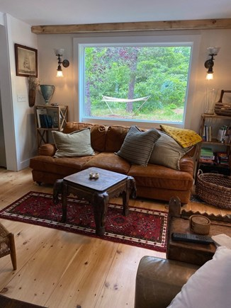 Eastham Cape Cod vacation rental - One of two resting areas that look out into the naturalized yard