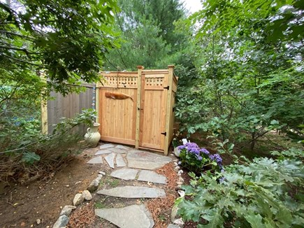 Eastham Cape Cod vacation rental - Path from deck leading to the outdoor shower