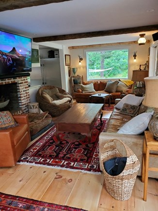 Eastham Cape Cod vacation rental - Living room looking back at picture window