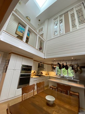 Eastham Cape Cod vacation rental - Another view of the kitchen showin the sliding widows of the den