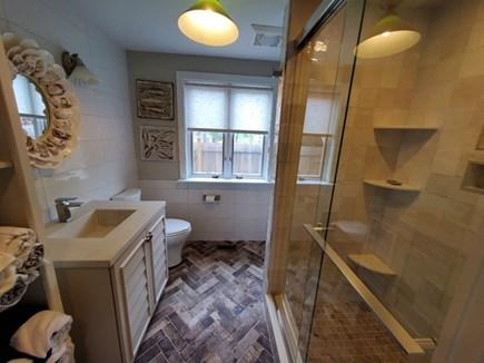 Eastham Cape Cod vacation rental - First floor bath custom tile