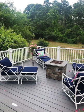 Orleans Cape Cod vacation rental - Sunny Porch with fire pit and pool table