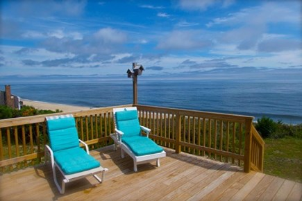 Wellfleet, Beach House Cape Cod vacation rental - Large deck on first floor (there also are 2 other decks)