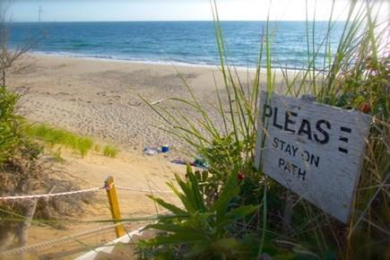 Wellfleet, Beach House Cape Cod vacation rental - Entry to beach