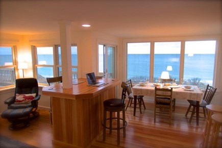 Wellfleet, Beach House Cape Cod vacation rental - Expansive water views from the open living/dining area