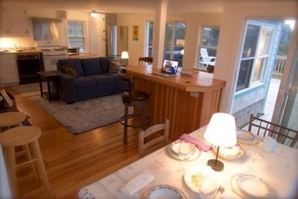 Wellfleet, Beach House Cape Cod vacation rental - Living room and kitchen