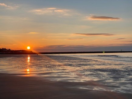 East Dennis Cape Cod vacation rental - Cold Storage Beach at sunset