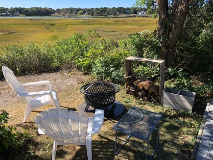 West Yarmouth Cape Cod vacation rental - Relax and enjoy the firepit on a summer night!