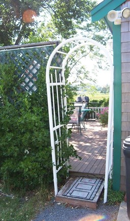 West Yarmouth Cape Cod vacation rental - Entry to private cottage patio